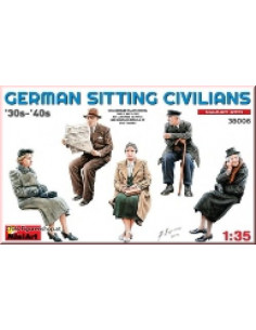 German Sitting Civilians...