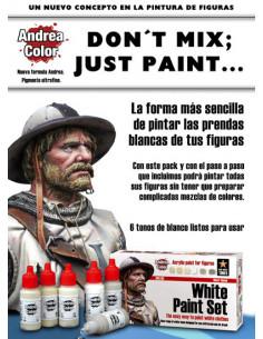 White Paint Set 6x17ml