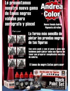 Black Paint Set 6x17ml
