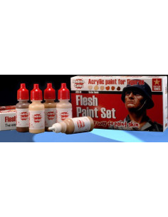 Flesh Paint Set 6x17ml