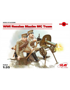 WW1 Russian Maxim MG Team