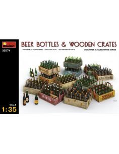 Bierflaschen und Holzkisten