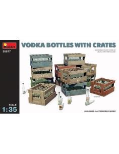 Wodka Flaschen und Kisten