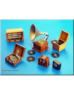 Plattenspieler und Radios